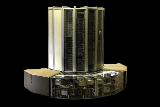 Old-school big data machine: a CRAY-1 supercomputer.