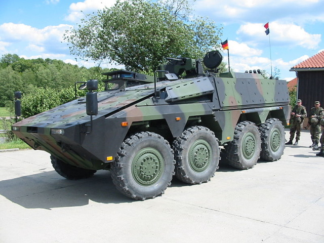 None of the GTK Boxer armored combat vehicles Germany sent to a Norwegian exercise for NATO's new rapid reaction force had machine guns on their remotely-controlled turrets. Instead, they had broomsticks painted to resemble gun barrels.