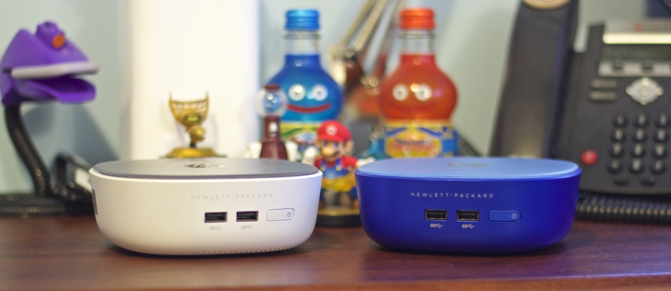 The Pavilion Mini (left) and Stream Mini (right) are low-cost mini desktops that work out of the box.