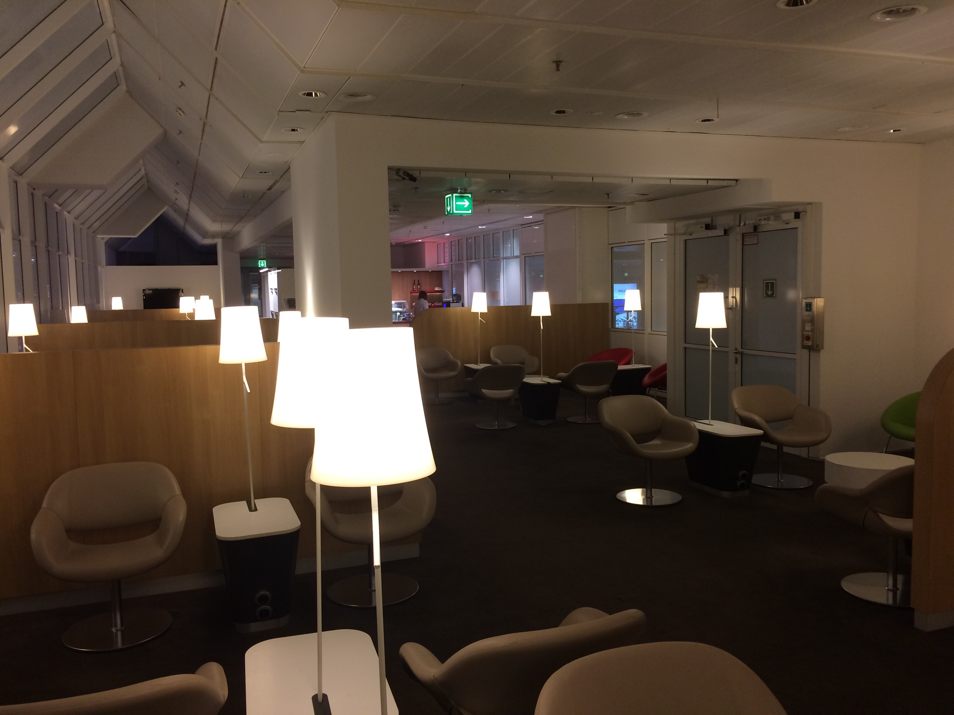 KLM's lounge at Munich Airport. It's quiet and the coffee was very good.