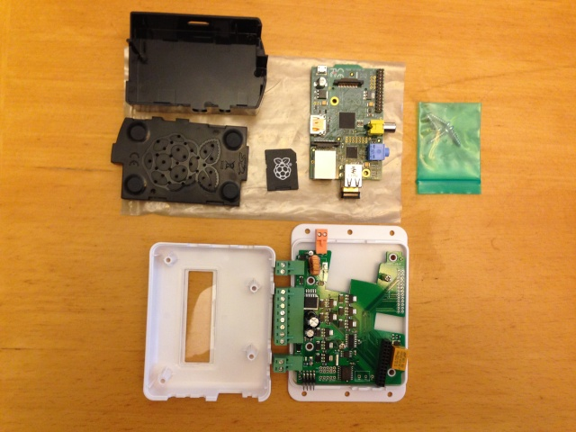 The Raspberry Pi (above) as compared to the OpenSprinkler board.