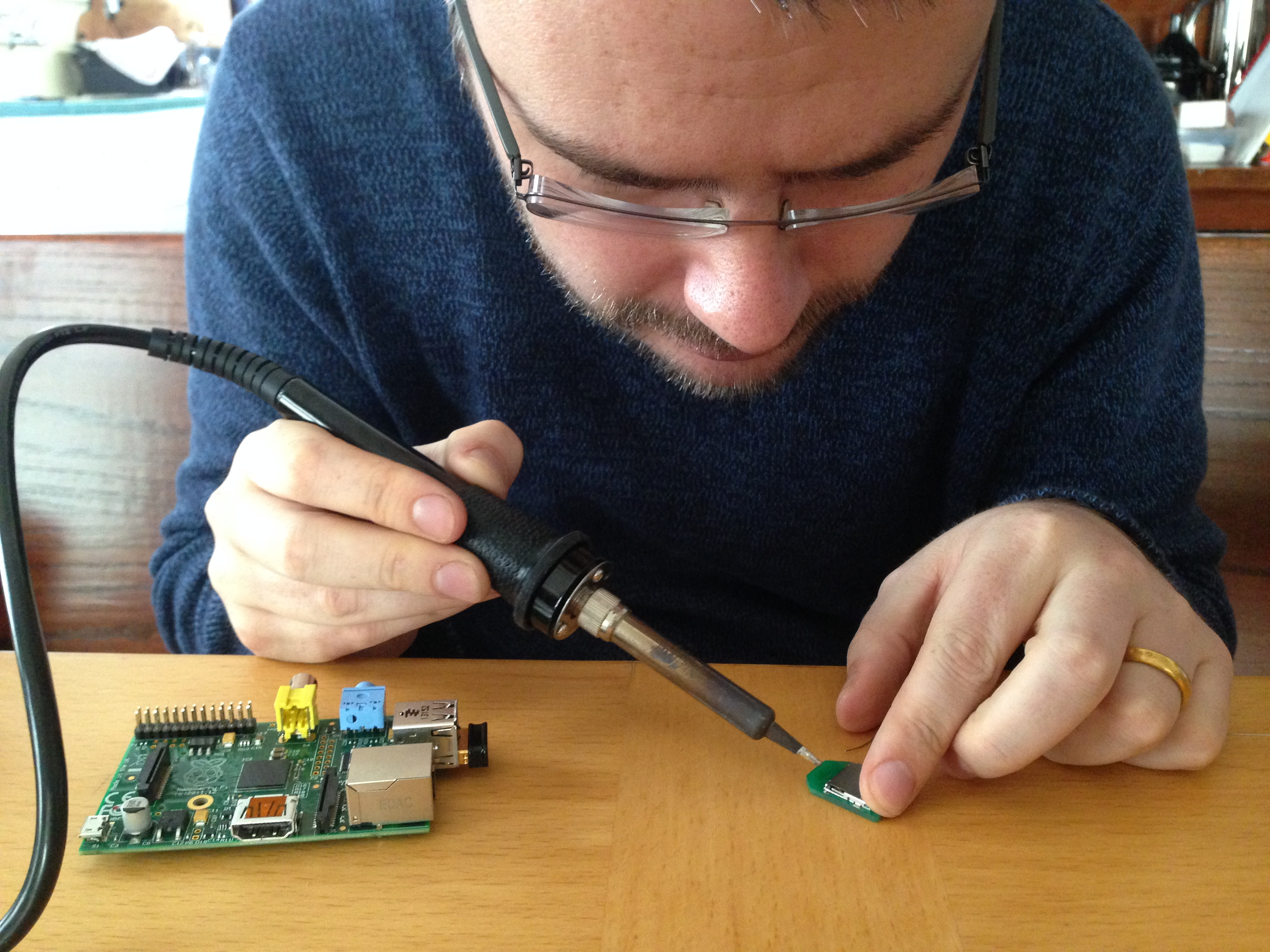 Malcolm Knapp works his soldering magic.