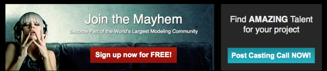 The Model Mayhem website.