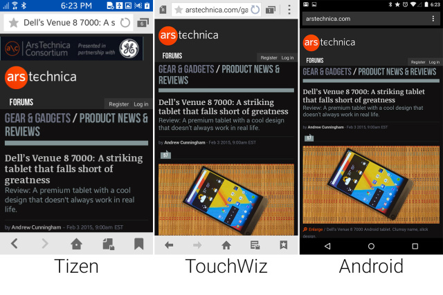 Tizen versus Android, in pictures | Ars Technica