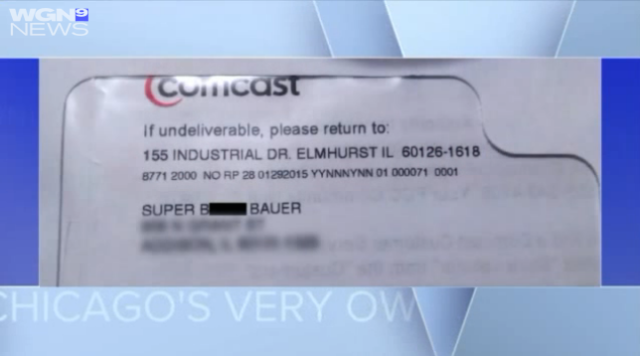 "Comcast customer says she got a bill addressed to ""Super Bitch"""