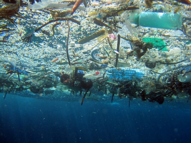 12.7 million metric tons of plastic pour into our oceans annually