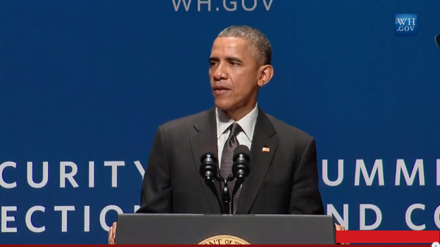 "Obama: ""Everybody's online and everybody's vulnerable"""