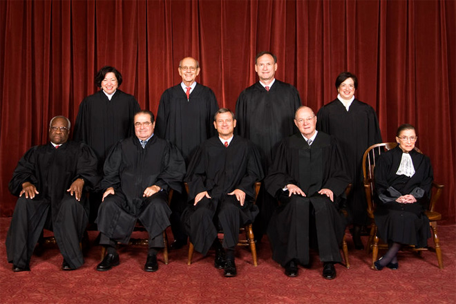 The Supreme Court justices.