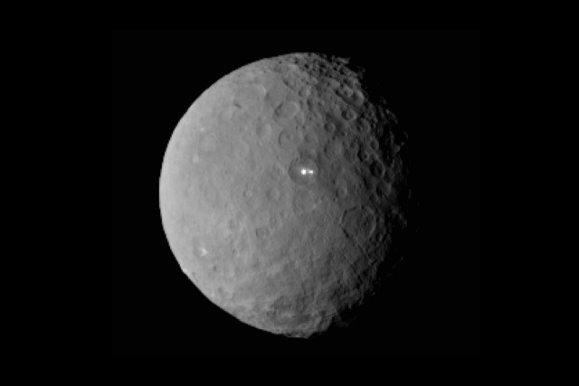 NASA puzzled by strange shiny spots on Ceres