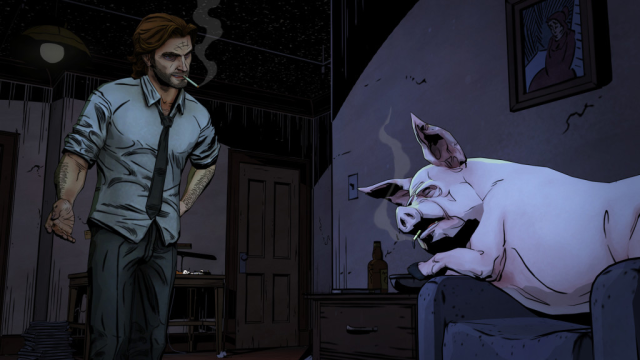 A scene from Telltale's <i>The Wolf Among Us</i>
