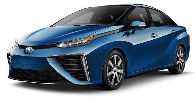 A prototype of the Toyota Mirai.