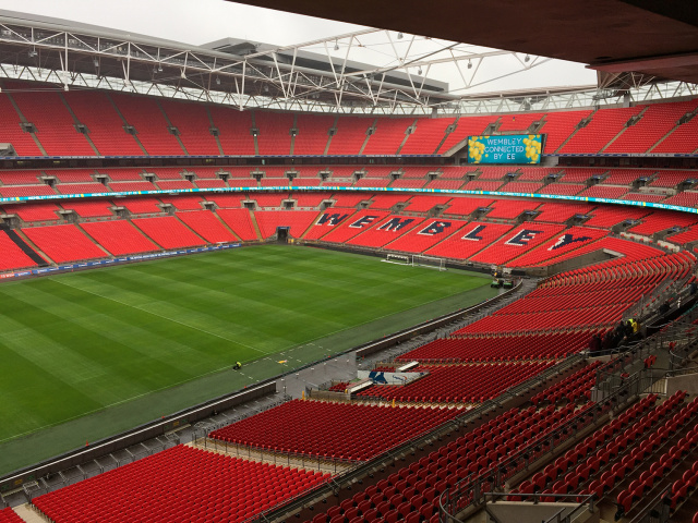 Wembley Stadium, the (current) location of Europe's fastest LTE network.