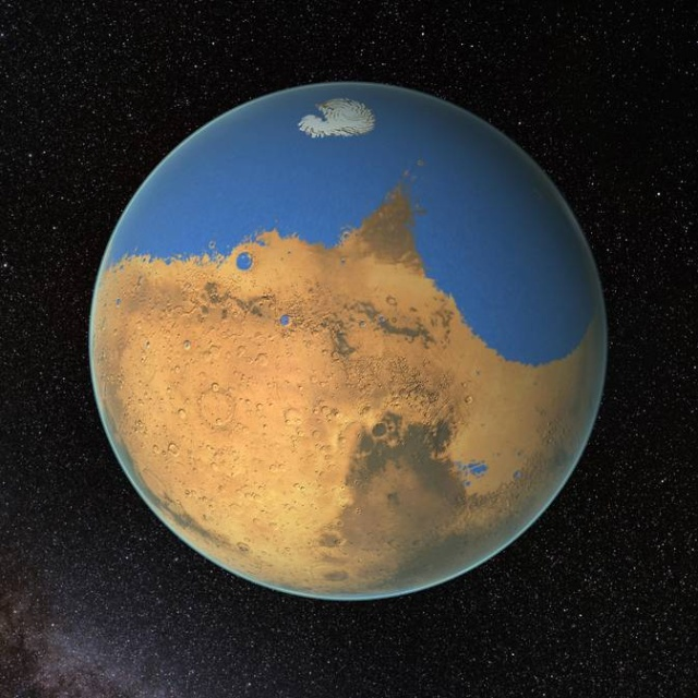Enormous Martian ocean evaporated into space