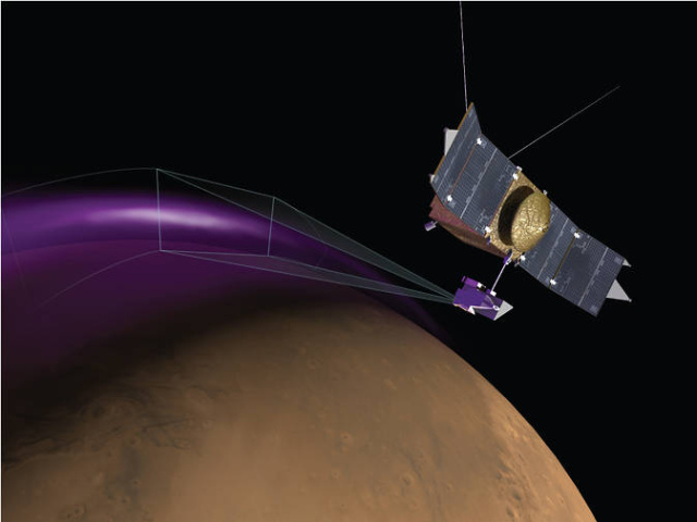 NASA's MAVEN spots auroras, dust at high altitudes above Mars