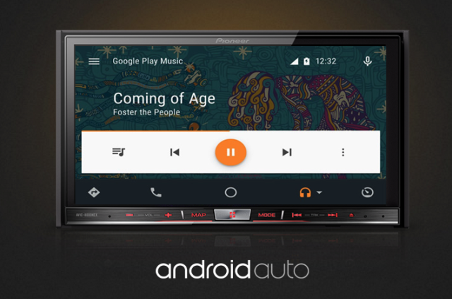 Pioneer's Android Auto head unit.