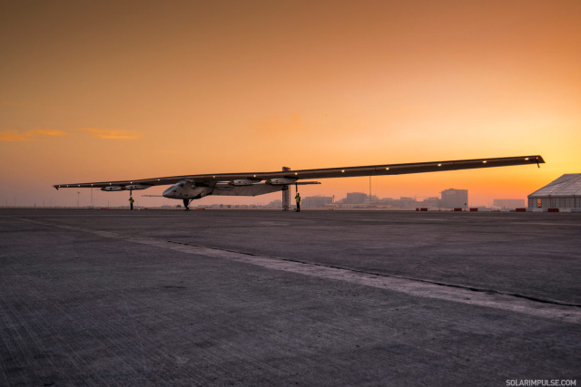 The aircraft on the ground in the UAE.