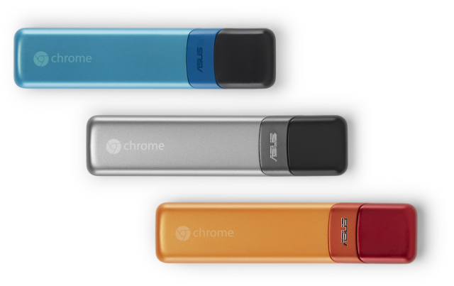 The Asus Chromebit is half Chromebox, half Chromecast.