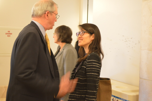 Ellen Pao outside the courtroom after closing arguments on Tuesday.