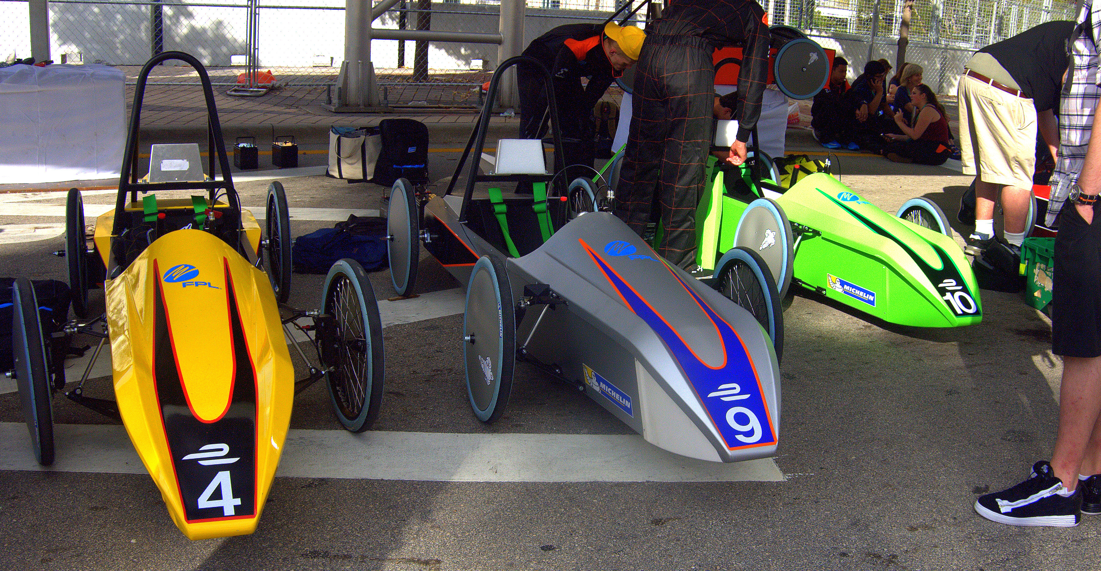We take a look at the Formula E Schools race cars before the event