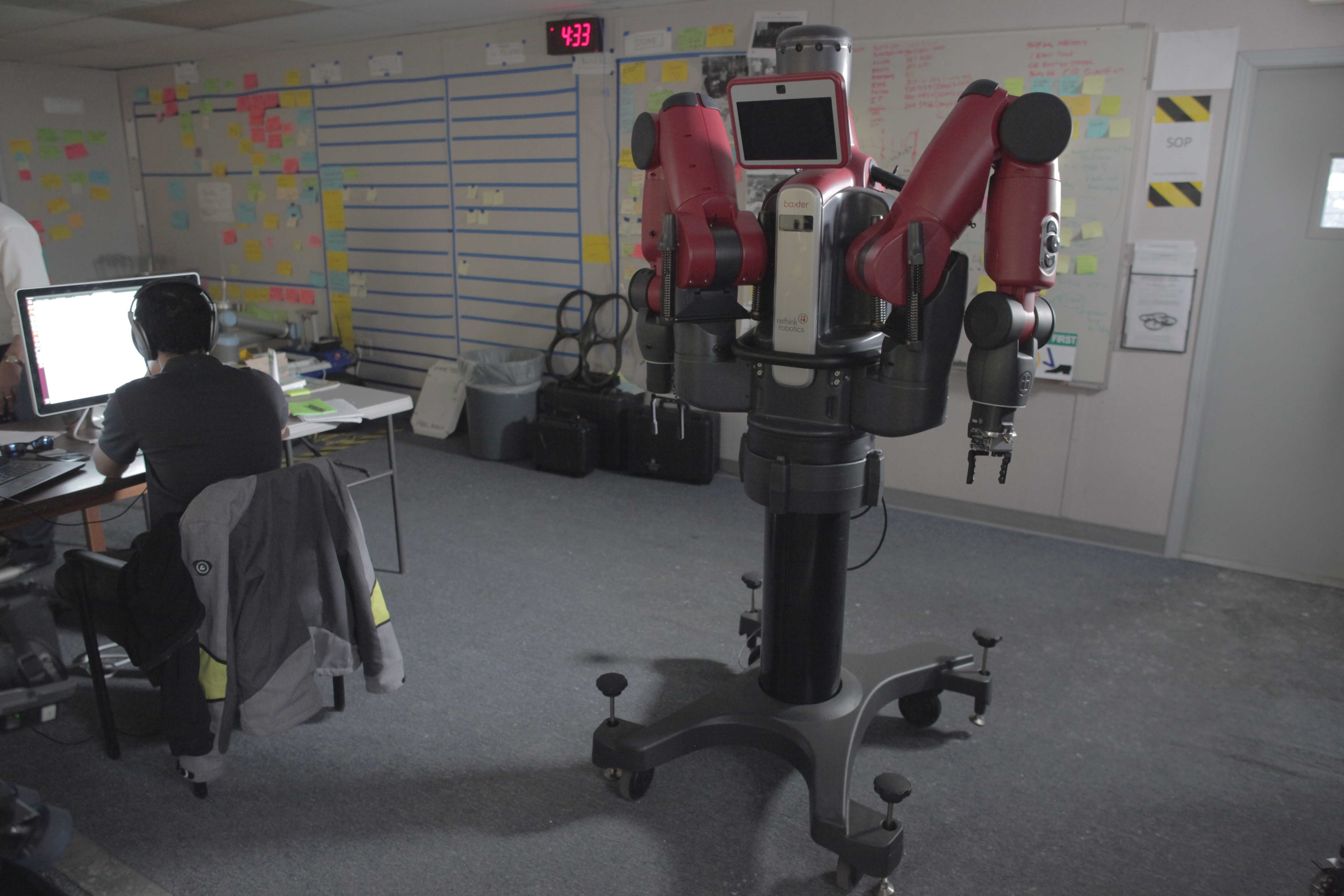 One of the multipurpose robots being used in experiments at GE Global Research in Schenectady, New York.
