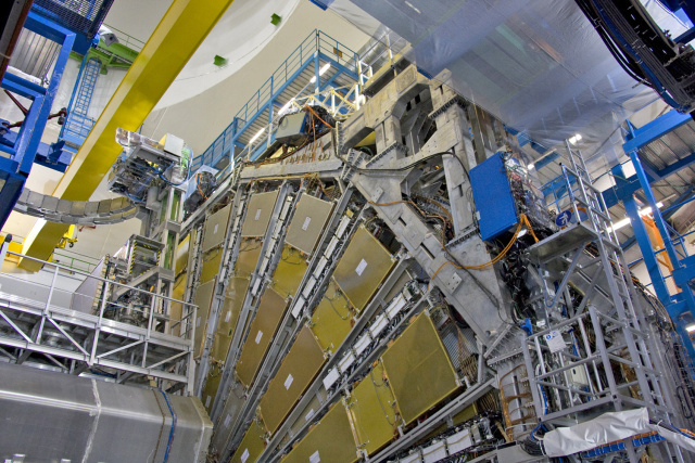 The ATLAS detector at the LHC.