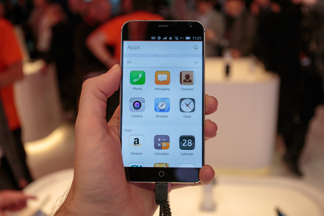 Meizu MX4, showing the Ubuntu apps scope.