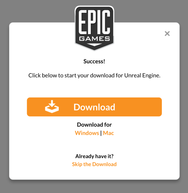 Seriously, it's free. We downloaded it. It works. Go to Unreal Engine 4 town, potential game makers.