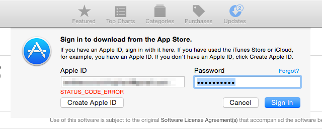 If you've tried to download anything from the App Store or iTunes today, you've probably been greeted with this.