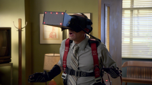 """We mock what we don't understand,"" Dean Pelton (played by Jim Rash) says in the new season of <i>Community</i>. Is he referring to virtual reality, or to a new era of streaming TV? (We think both.)"