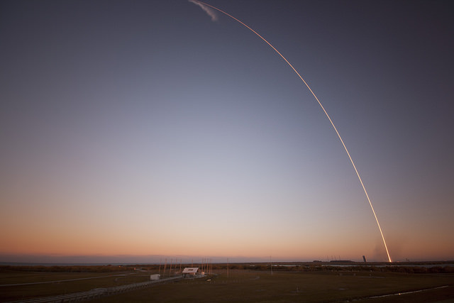 The February 11 launch of the DSCOVR satellite in Cape Canaveral, Florida.