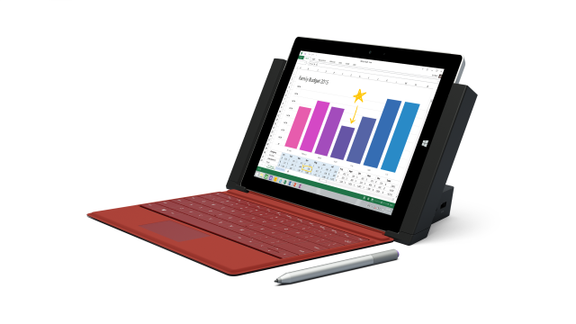 Surface 3 in its docking station.