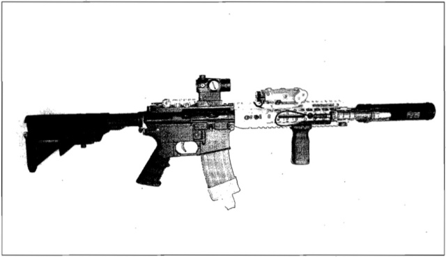 Prosecutors say that Johnny Quenga had a laser mounted to an airsoft rifle like this.