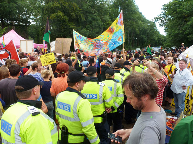 UK protests against fracking.
