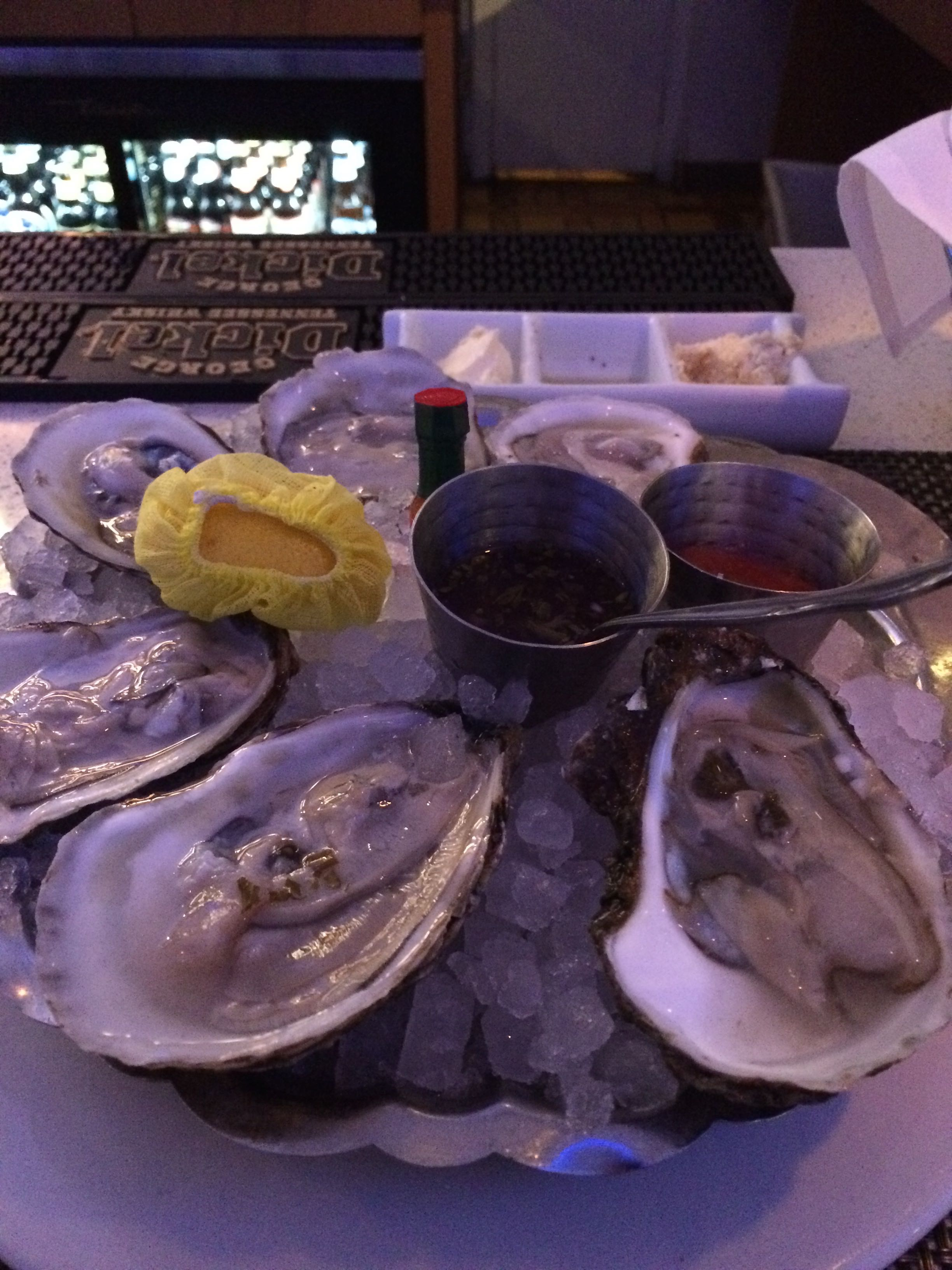Oysters in Albany. Win.