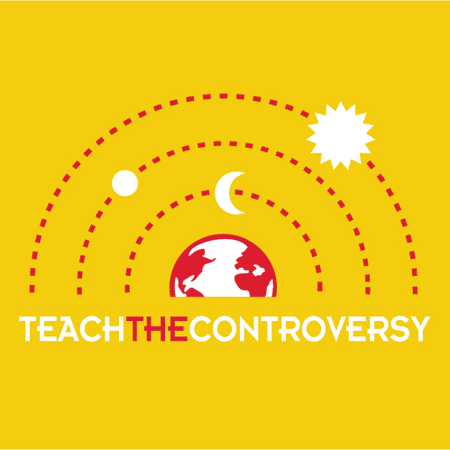 "One of a series of t-shirts poking fun at legislation challenging the teaching of certain ""controversial"" topics in public school science classes."