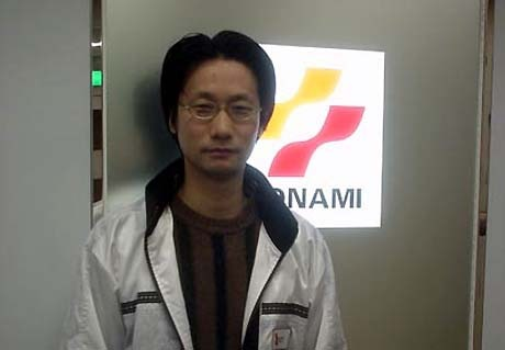 Kojima in a 2001 picture taken at Konami's office tower.