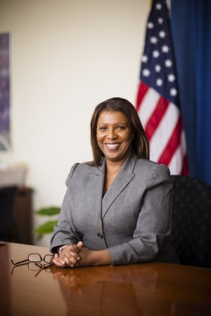 New York City Public Advocate Letitia James.