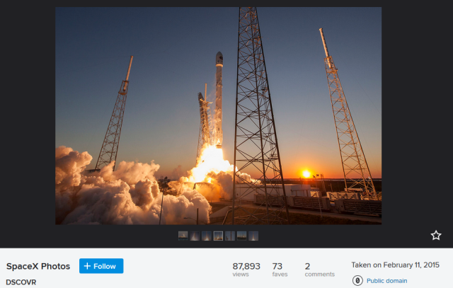 Flickr offers new public domain licensing in wake of SpaceX photo release