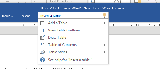 """File this one under """"why didn't they do this in Office 2007?"""" Though there used to be add-ons, such as Scout, they weren't as convenient or built-in."""