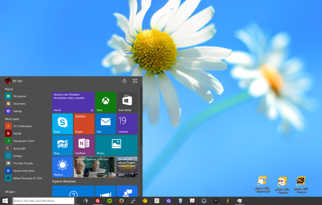 Windows 10 Technical Preview, build 9926