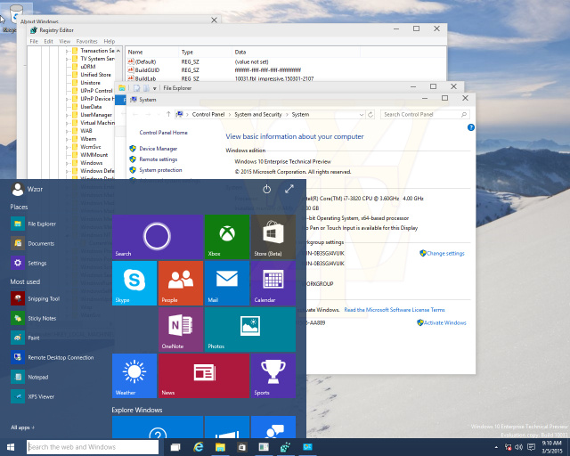 You can now see through the background of the Start menu.