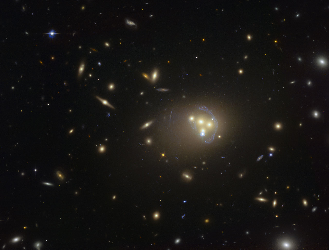 A wider view of Abell 3827, as taken by Hubble.