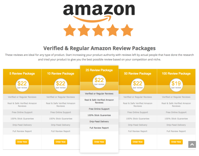 Amazon drops the hammer on website that sells 5-star reviews