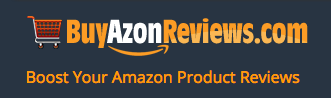 A graphic from a review-buying site that Amazon says infringes its trademarks.