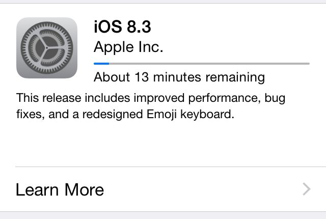 iOS 8.3 released with fixes for performance and just about everything else