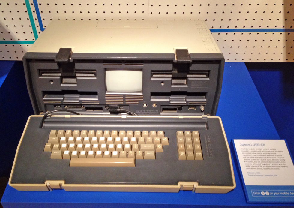 The Osborn 1: two floppies, portable, and a built-in screen that you needed a magnifying glass to appreciate.