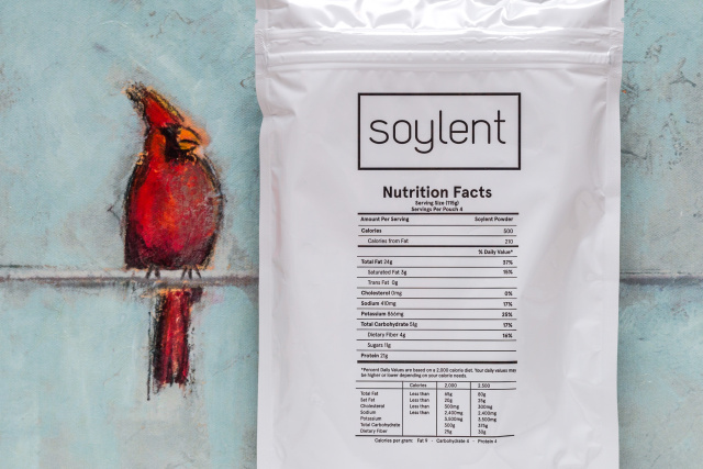 New Soylent: four servings per bag, no extra oil bottle.