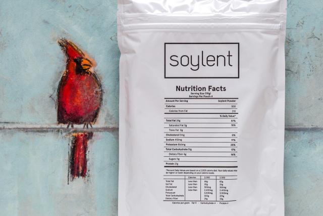 New Soylent: four servings per bag, no extra oil bottle.