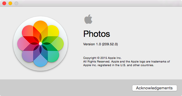 The Photos app for OS X is out of beta.
