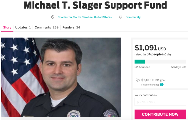 Second crowdfunding campaign for SC police officer suspended [Updated]